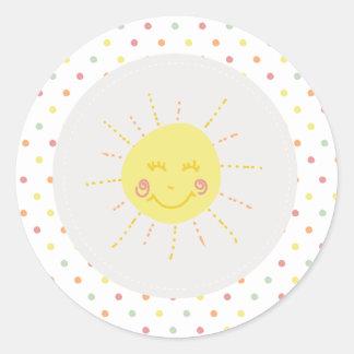 Rainbow & Sunshine Sticker - Sun Sticker