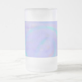 Rainbow Swirl 16 oz. Frosted Glass Mug