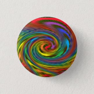 Rainbow Swirl 3 Cm Round Badge
