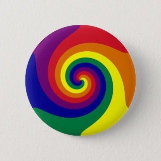 Rainbow Swirl 6 Cm Round Badge