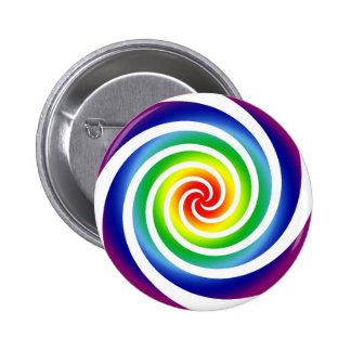 Rainbow Swirl - button