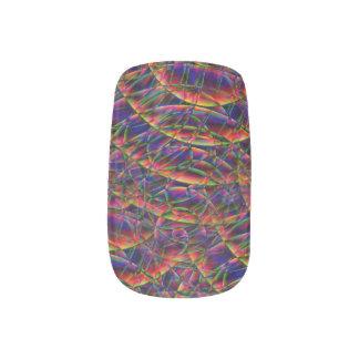 Rainbow Swirl in Time Fingernail Transfer