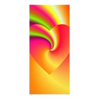 Rainbow Swirl Love Heart Rack Card