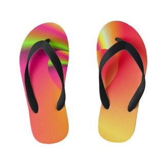 Rainbow Swirl Love Heart Thongs