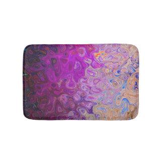Rainbow Swirl Plaid Spiral Bath Mat