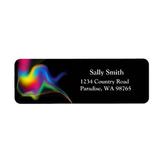 Rainbow Swirl Return Address Labels. Return Address Label