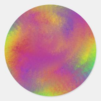 Rainbow swirl round sticker