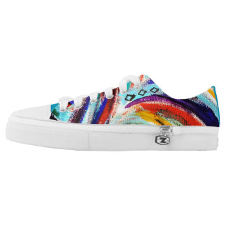Rainbow Swirl Shoes Printed Shoes