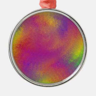 Rainbow swirl Silver-Colored round decoration