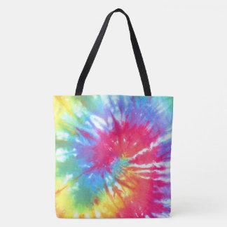 Rainbow Swirl Tie Dye Tote Bag