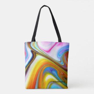 Rainbow Swirl Tote