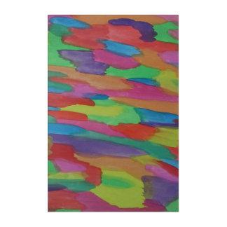 Rainbow Swirl Watercolor Abstract Art Print