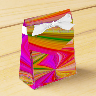 Rainbow Swirl with Stars Favour Box