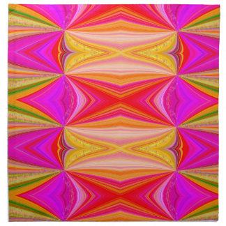 Rainbow Swirl with Stars Napkin