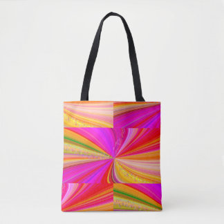 Rainbow Swirl with Stars Quilt Pattern Tote Bag