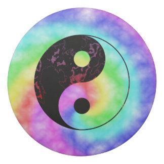 Rainbow Swirl Yin Yang Symbol Eraser