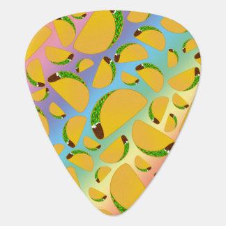 Rainbow tacos guitar pick