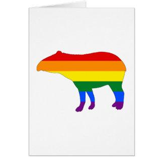 Rainbow Tapir Card