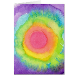 Rainbow Target Greeting Card Cards