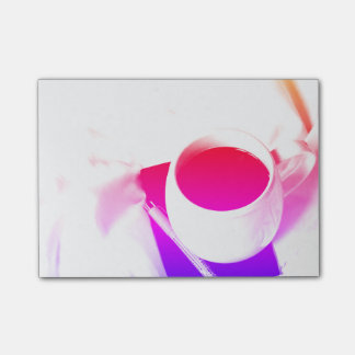 Rainbow Tea Breakfast in Bed Coffee Cup Post-it Notes