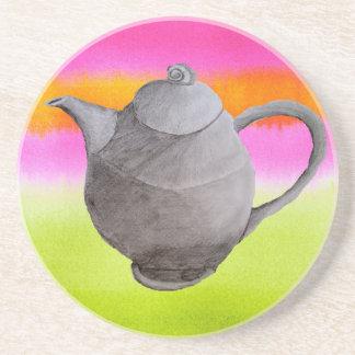 Rainbow Teapot arty tea party Coasters