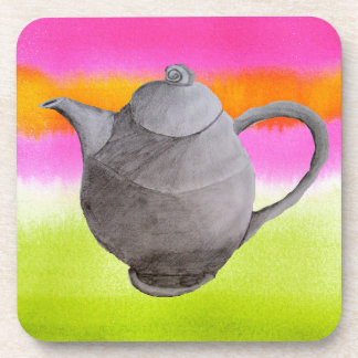 Rainbow Teapot arty tea party Drink Coasters
