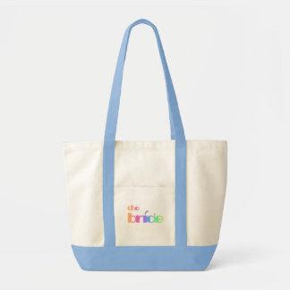 Rainbow Text Bride Tshirts and Gifts Bag