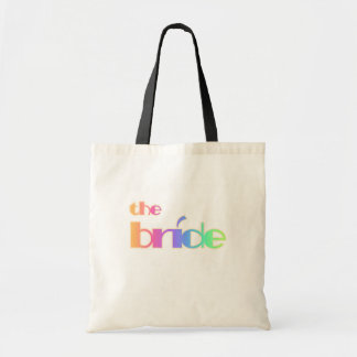 Rainbow Text Bride Tshirts and Gifts Canvas Bags