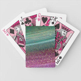 Rainbow Textured Pink Poker Deck of Cards