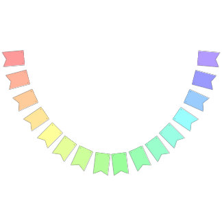 Rainbow Themed Customisable Party Banner