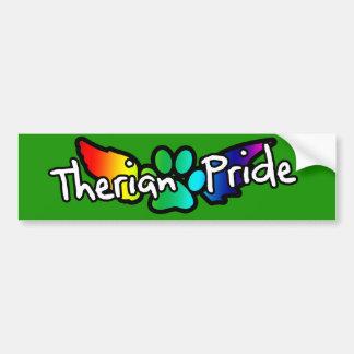 Rainbow Therian Pride Bumper Sticker Car Bumper Sticker