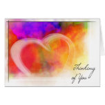 Rainbow-Thinking of you Greeting Card