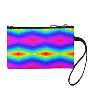 Rainbow tie-dye coin purse