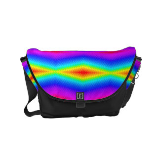 Rainbow tie-dye courier bags