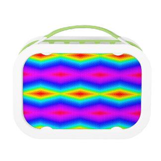 Rainbow tie-dye lunch box