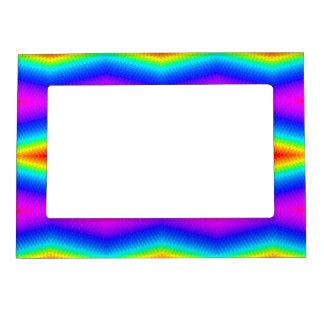 Rainbow tie-dye magnetic frame