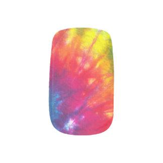 Rainbow Tie-Dye Minx Nail Art