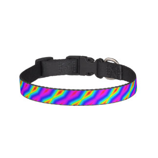 Rainbow tie-dye pet collar