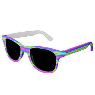 Rainbow tie-dye sunglasses