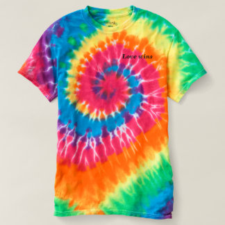 Rainbow Tie-Dye T-Shirt, Love Wins T-Shirt