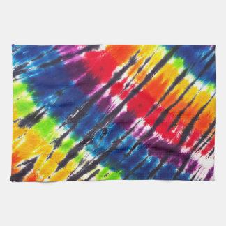 Rainbow Tie-Dye Tea Towel