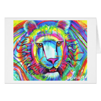 RAINBOW TIGER card - copyright ©1999 SylviART