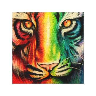 Rainbow Tiger Gallery Wrap Canvas