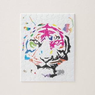 Rainbow Tiger Jigsaw Puzzle