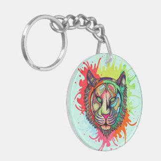 Rainbow Tiger Key Ring