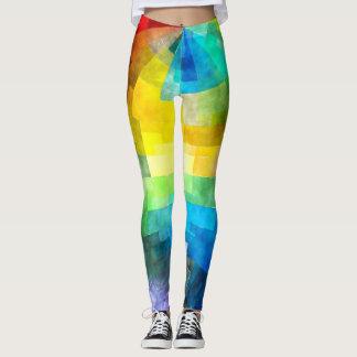 Rainbow Tissue Paper Design Leggings