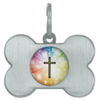 Rainbow to infinity. pet ID tag