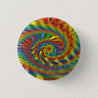 Rainbow Tornado 3 Cm Round Badge