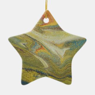 Rainbow Tornado Ceramic Ornament