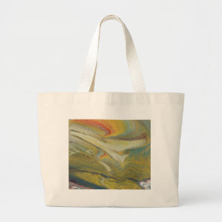 Rainbow Tornado Large Tote Bag